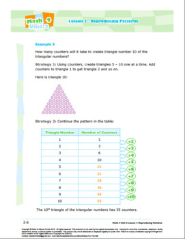 CANADA Math 4: Algebra: Patterns and Relations: L1: Reproducing Patterns