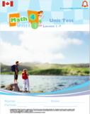 CANADA Math 4: Whole Year Unit Test Bundle