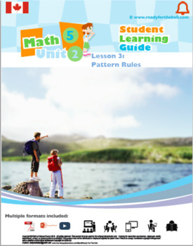 CANADA Math 5: ALGEBRA Complete Unit Bundle