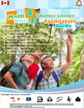 CANADA Math 5: FULL YEAR BUNDLE (Numbers, Algebra, Geometry, Statistics)