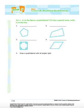 CANADA Math 5: Geometry: L10: Classifying Quadrilaterals