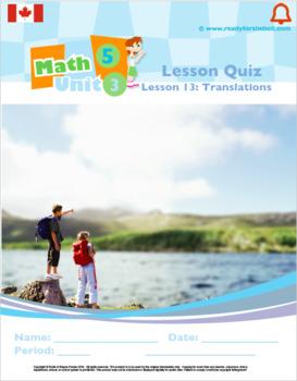 CANADA Math 5: Geometry: L13: Translations Quiz