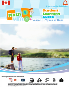 CANADA Math 5: STATISTICS Complete Unit Bundle