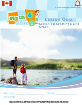 CANADA Math 6: Algebra: L14: Creating a Line Graph Quiz