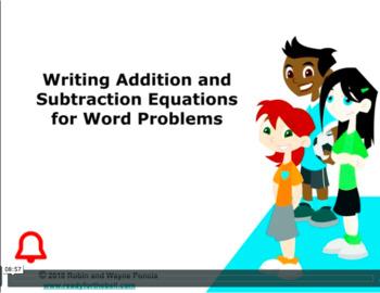 CANADA Math 6: Algebra: Write Addition & Subtraction Equations Concept Capsule
