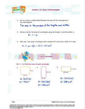 CANADA Math 6: Geometry: L12: Area of Polygons Worksheet