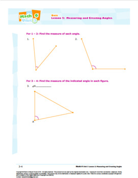 CANADA Math 6: Geometry: L2: Measuring and Creating Angles Quiz