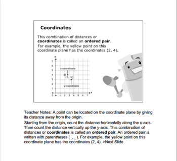 CANADA Math 6: Integers & Algebra: L10: Graphing Points of a Coordinate Plane