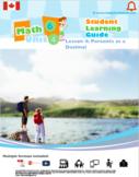 CANADA Math 6: Statistics and Probability: L4: Percents as