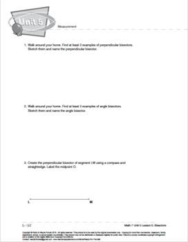 CANADA Math 7: Measurement: L5: Bisectors