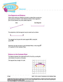 CANADA Math 7: Measurement: L6: Geometry on the Cartesian Plane