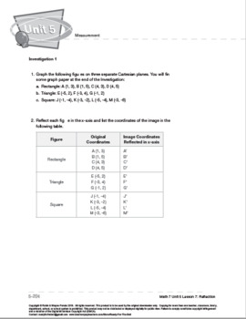 CANADA Math 7: Measurement: L7: Reflections