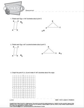 CANADA Math 7: Measurement: L9: Rotations