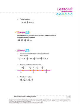 CANADA Math 7: The Number Line: L2: Ordering Integers