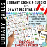 CANADA VERSION: Dewey Decimal Call Number Guide for the School Library