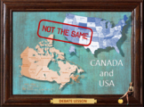 CANADA VS USA - ESL adult and kid debate conversation