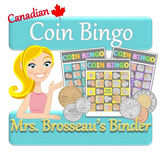Money Math - CANADIAN Adding Coins Bingo Cards - 30 Unique Cards!