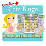 Money Math - CANADIAN Adding Coins Bingo Cards - 30 Unique Cards!
