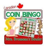 Money Math - CANADIAN Christmas Adding Coins Bingo Cards -