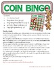 Money Math - CANADIAN Christmas Adding Coins Bingo Cards -