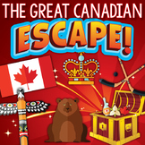 CANADIAN Escape Room (Test Review, Puzzles, and Team Building Activities)