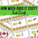 CANADIAN How Much Does It Cost? Task Cards