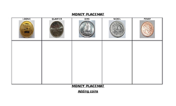 CANADIAN MONEY PLACEMATS