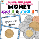 CANADIAN MONEY WORD WALL & SPOT IT & STEAL IT GAME