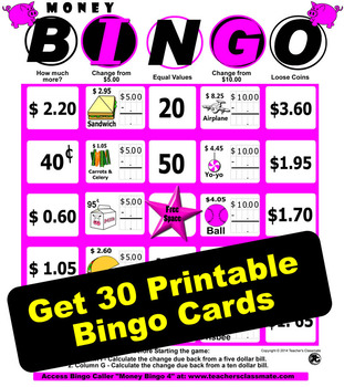 Canadian Money Bingo 4 - With Online Bingo Caller