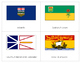 CANADIAN PROVINCIAL FLAGS: THREE PART CARDS