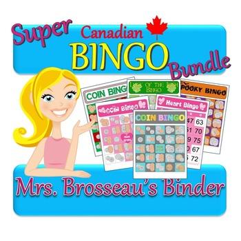 Money Math - CANADIAN Bingo Bundle - 5 Coin Addition Bingo