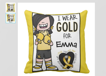 CANCER childhood - Because we LOVE you no one FIGHTS alone - GIRL black hair