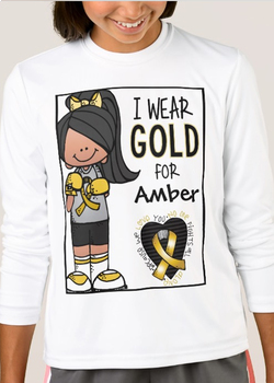 CANCER childhood - Because we LOVE you no one FIGHTS alone - GIRL hispanic