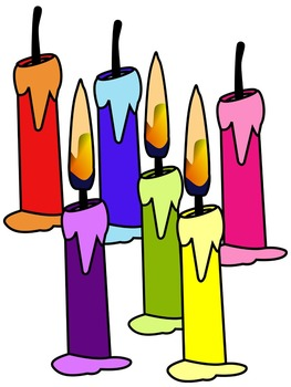 CANDLE CLIP ART * COLOR AND BLACK AND WHITE