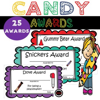 CANDY AWARDS!!! End of Year! Great for all Grades!