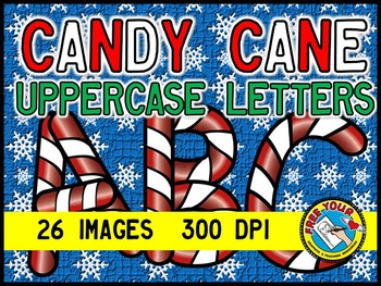CHRISTMAS CLIPART: CANDY CANE CLIPART: CHRISTMAS LETTERS CLIPART