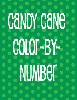 CANDY CANE COLOR-BY-NUMBER