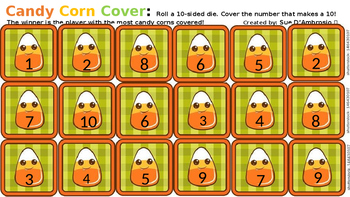 CANDY CORN COVER  Make a 10, Compliments of 10, Best Friend Ten