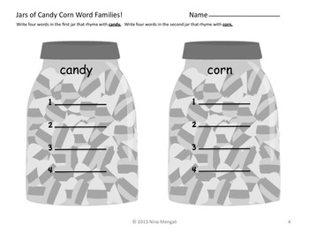 HALLOWEEN CANDY CORN Literacy & Math PRINT & GO NO PREP Bonus Bookmarks/Posters