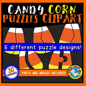 CANDY CORN PUZZLES CLIPART: CANDY CORN CLIPART PUZZLE: HALLOWEEN CLIPART