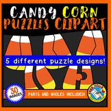 CANDY CORN PUZZLES CLIPART (HALLOWEEN CLIP ART)