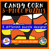 CANDY CORN PUZZLES CLIPART TEMPLATES (3 piece): HALLOWEEN CLIPART