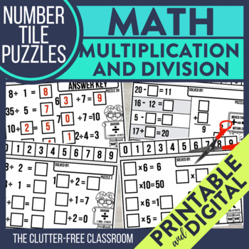Multiplication Flash Cards - Division Flash Cards - Fact Families - CANDY CORN