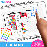 CANDY Digital Editable Google Slide Secret Picture Tiles |