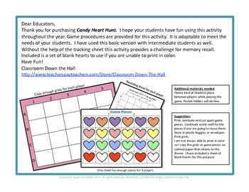 CANDY HEART HUNT: A Game for Valentine's Day