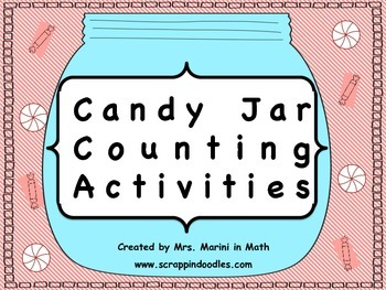 CANDY JAR MATH COUNT (COMMON CORE COUNTING AND CARDINALITY) KINDERGARTEN & 1ST