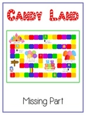 CANDY LAND Fun Math Folder Game  Finding Missing Part Addend Common Core Aligned