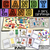 CANDY LAND, GAME COMPANION, BUNDLE -ARTICULATION & LANGUAGE (SPEECH THERAPY)