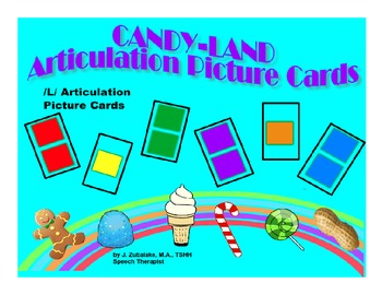 SPEECH THERAPY CANDY LAND /L/ Articulation Picture Cards