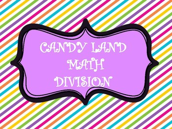 CANDY SWEETS MATH DIVISION